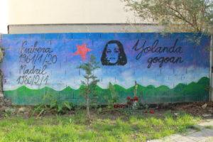 Hommage à Yolanda Gonzalez, une jeune étudiante assassinée par un fasciste à Madrid en 1980 (Peninsula de Zorrozaurre, Bilbao. © Gabriel Gatti (2018)