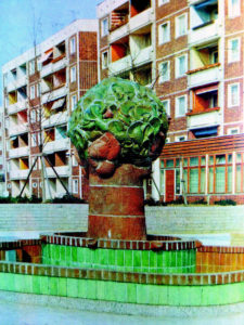 Bauernbrunnen, Erich Nitzsche, 1978, Rostock-Lichtenhagen.