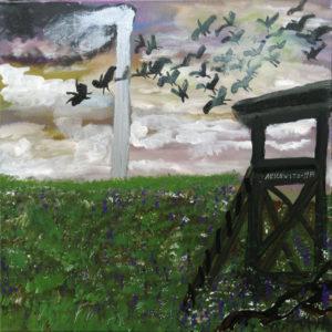 Ceija Stojka, Auschwitz 1944, 2009, acrylique sur toile. © Ceija Stojka, Adagp, 2017. Collection Antoine de Galbert