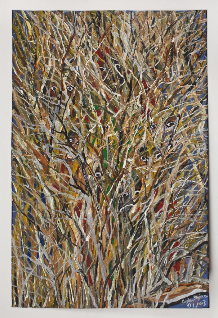 Ceija Stojka, sans titre, 2003, craie et acrylique sur papier. © Ceija Stojka, Adagp, 2017. Courtesy collection privée, Paris
