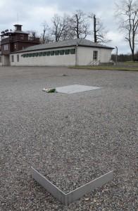 Dalle commémorative (1995) à la mémoire de tous les prisonniers du camp de concentration de Buchenwald inaugurée lors du 50e anniversaire de la libération. Elle est située sur l'ancienne Appelplatz. Sur la plaque de métal, incrustée dans le sol, est gravé l'acronyme « K. L. B. » (Konzentrationlager Buchenwald), ainsi que le nom de plus de 50 nations et de groupes de victimes par ordre alphabétique. La partie centrale est chauffée à 37°, la température du corps humain. Cette œuvre a été conçue et réalisée par les artistes Horst Hoheisel et Andreas Knitz.