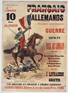 Fig. 1: affiche pour Français et Allemands de Dick de Lonlay, 1887 © BnF-Gallica