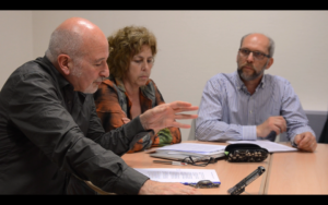 Fig. 2 Philippe Mesnard, Isabelle Klock-Fontanille et Jean-Noël Dumont lors de la table ronde du 4 juin 2019. © Gabriel Raichman