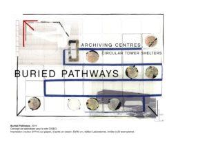 Fig. 4 Cécile Massart, Buried Pathways, 2014, concept de laboratoire pour le site Cigéo, impression couleur D-Print sur papier, 63x90 cm, édition Laboratoires, limitée à 20exemplaires. © Cécile Massart