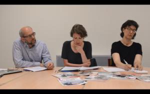 Fig. 6 Jean-Noël Dumont, Laëtitia Ogorzelec-Guinchard et Lucie Taïeb lors de la table ronde du 4 juin 2019. © Gabriel Raichman