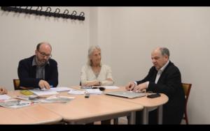Fig. 9 Sébastien Fevry, Cécile Massart et Denis Peschanski lors de la table ronde du 4 juin 2019. © Gabriel Raichman